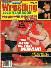 DUSTY RHODES/BOB BACKLUND Wrestling 1978 Yearbook Magazine SUPERSTAR GRAHAM