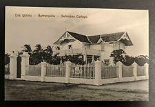Mint Vintage Suburban Cottage Barranquilla Columbia Real Picture Postcard