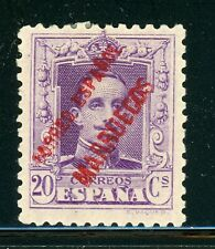 Spanish Morocco MH Selections: Scott #82 20c Violet (RED) CV$7+
