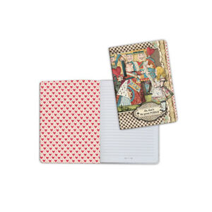 Stamperia A5 Notebook Mad Hatter Alice in Wonderland (ENBA5024)