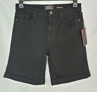 Women's 7 For All Mankind Jen7 Bermuda Shorts Size 8 NEW Black