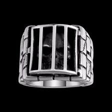 Rocker Biker Edelstahl Ring Skeleton cage Shape Skull Death Head Gothic  (RE90)