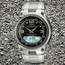 Casio AW82D-1AV Fishing Timer Moon Data Watch Steel Brand 10 Year Battery New