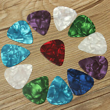 Hot 10 Pcs Thin Durable 0.71mm Celluloid Guitar Picks Plectrums Assorted Colors