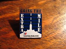 United Airlines Lapel Pin - Vintage UAL Tulip Logo Worker Extra Mile UA Hat Pin