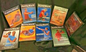 New - Kettle Worx DVD  - 9 Piece Workout Video Collection