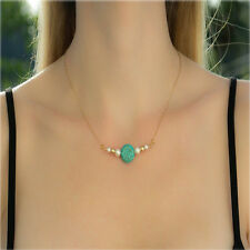 Fashion Jewelry Pendant Turquoise Chain Women Combination Pearl Necklace Hot 1Pc