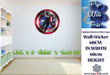Captain America wall sticker children's bedroom bedroom sticker large.