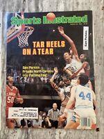 Sam Perkins HOF 1980-84 UNC Tar Heels Signed Auto 1982 Sports Illustrated Cover