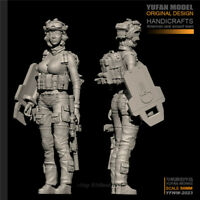 1/35 US Female Soldier Resin Kits Unpainted Figure Model GK Unassembled YUFan