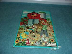 LOWE'S 1950'S PUZZLE FUN ON THE FARM 3434