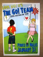 The Go! Team Melbourne 2006  Concert Poster Art Jazz Feldy