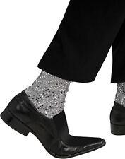 Michael Jackson Thriller Silver Sequins Mens Socks Halloween Costume Accessory