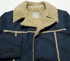 Vintage 1960s 70s Towncraft JCPenney Denim Sherpa Loop Collar Boy's XL Jacket