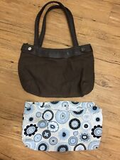 Thirty One Skirt Purse Base And Blue Floral Cover Shoulder Bag