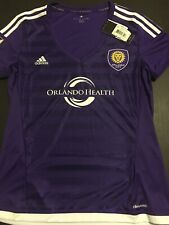 ADIDAS MLS Orlando City SC Replica Home Purple S S Soccer Jersey Women s L 52eec34bd5