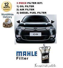 FOR CITROEN C5 2.2HDi 170BHP 2008-> SERVICE KIT OIL AIR FUEL ( 3 ) FILTER SET