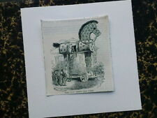 greetings card with ANTIQUE PUNCH CARTOON troy after teniers / trojan horse