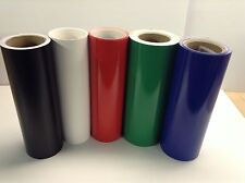 "12"" Adhesive Vinyl (hobby / sign maker/ sheet), 5 rolls/ 5 ft ea, by precision62"