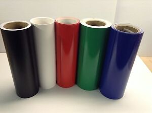 """12"""" Adhesive Vinyl (hobby / sign maker/ sheet), 5 rolls/ 5 ft ea, by precision62"""