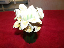 Flower vase featuring bouquet of Peace Lilies