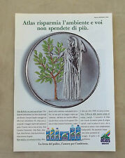 F097 - Advertising Pubblicità - 1992 - ATLAS , LA FORZA DEL PULITO