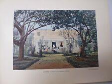TAHITI: Gravure 19° in folio couleur /PALAIS DU GOUVERNEMENT A PAPEETE