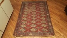 4 'x 6' Handmade Kashmir Rug Made By Suffering Moses see description India 1963