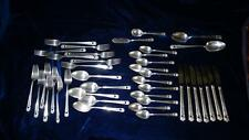 41 PCS. OF ROGERS ETERNALLY YOURS PATTERN OF SILVER PLATED FLATWARE