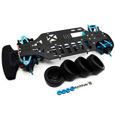 Alloy & Metal Shaft Drive 1/10 RC 4WD Touring Car Frame Kit for TT01 TT01E New