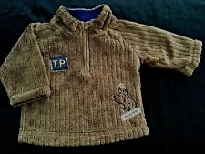 BABY BOYS SIZE 000 WARM SOFT BROWN JUMPER ~ AS NEW