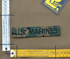 "Ricamata / Embroidered Patch ""U.S. Marines"" Marpat Wood. with VELCRO® brand hook"