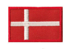 Ecusson drapeau Danemark petit patch patche thermocollant 45x30 mm