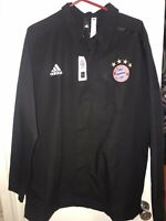 Mens Adidas FC Bayern Munich Soccer Football Z.N.E. Jacket L Large Black