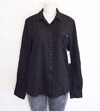 RVCA Women's Trader Button Down Shirt – Black sz L