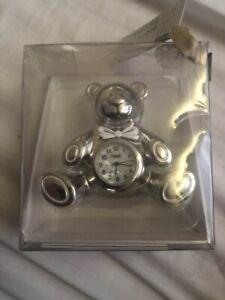 Next Baby's First Clock - Teddy Bear Shape - NEW