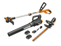 WORX WG932 20V 3pc Blower, Trimmer Hedge Trimmer  (WG547.9, WG162.9, WG255.9)