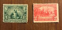 US #328 & #329 Capt Smit & Jamestown, MHOG Stamps I Combine Shipping