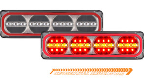 LED Autolamps 385ARRM Maxilamps Stop/Tail & Sequential Indicator Twin Pack