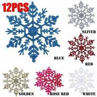 Christmas Tree Decoration Pack of 12 Snowflakes Xmas Garland Star Snowflake