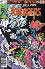 Marvel Super Action Comic Book #22 The Avengers 1980 FINE+