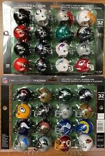 NFL 32 Piece Tracker Set Riddell Pocket Pro Gumball Size Football Helmet - 2020