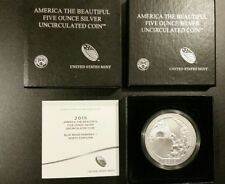2015-P 5 oz Silver ATB Blue Ridge Parkway National Park, NC with Box and COA
