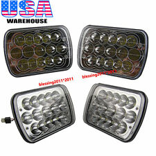 "7""X6"" LED HID Cree Light Bulbs Clear Sealed Beam Crystal Headlight Headlamp 4PCS"