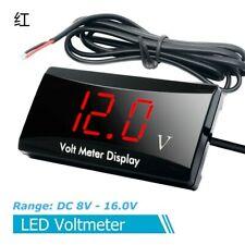 Mini DC 12v Led Waterproof Display Voltmeter Car Voltage Volt Gauge Panel Meter