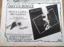 DAVID BOWIE White Light, White Heat 1983 UK  Press ADVERT 12x8 inches