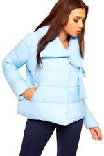 Cappotti e giacche da donna blu da esterno con bottone automatico
