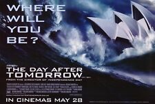 THE DAY AFTER TOMORROW Movie POSTER 27x40 E Dennis Quaid Jake Gyllenhaal Emmy
