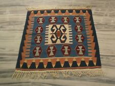 3'x3'2'' Hand Woven Afghan Vegetable Dye Carpet Traditional Flat Rug DN-2103