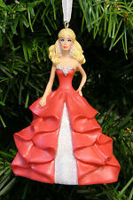 HALLMARK COLLECTIBLE BARBIE IN RED & SILVER GOWN CHRISTMAS TREE ORNAMENT